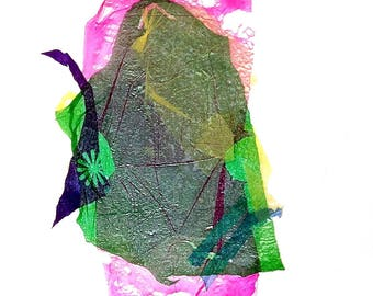 A recycled plastic bags paintings, mixed media, modern contemporary art, eco friendly, fine art, home and office decore,art gifts,imaginary