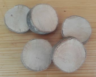 5 natural wooden rings - ref: Lot 11
