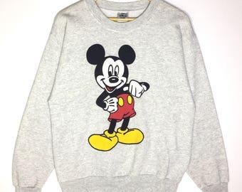 Rare!! Vintage 90s Mickey Mouse Crewneck Sweatshirt