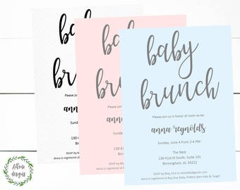 Baby Shower Invitation BOY or GIRL or Gender Neutral Digital Printable Invite
