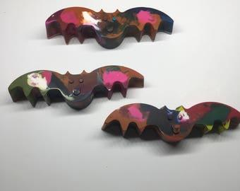 Halloween Party Favors, Halloween Crayons, Bat Crayons, Jumbo Crayons, Halloween Party, Sensory Crayons, Rainbow Crayons, Shaped Crayons