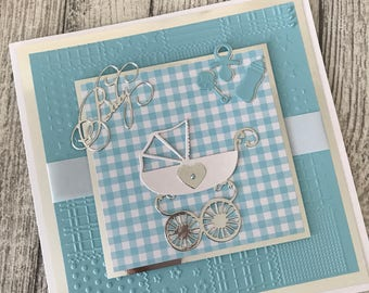Baby Boy handmade greeting card