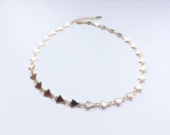 Dora Triangle Choker Necklace