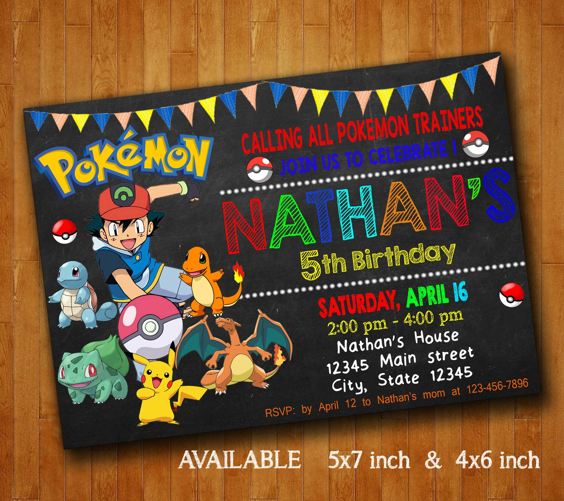 pokemon invitations pokemon birthday party invitation pokemon