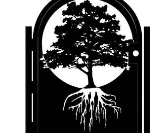 Metal Art Gate - Handmade - Tree of Life Wall Panel Art - Roots - Growth - Forest - Ornate Garden Gate - Decorative Driveway Gate - Steel