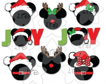 8 Different Disney images to choose from Disney  Santa , Mrs .Claus  , Reindeers and  Joy  Personalized Transfer,Digital Transfer,DIY