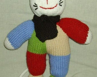 Multicolored toy knitting pattern for the pleasure of kids and adults