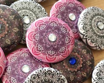 Rhinestone Pink Mandala
