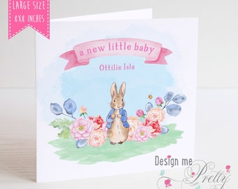 Peter Rabbit New Baby Card Little Girl