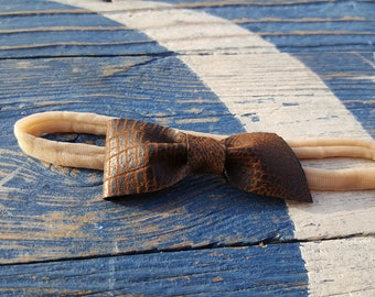 Faux leather baby headband