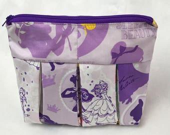 Purple Pleated Disney Princesses Bag