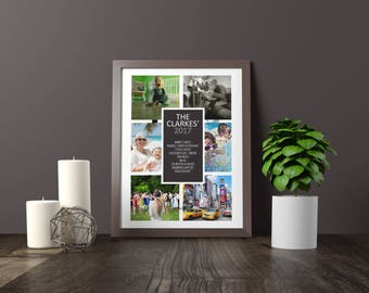 Photo Collage, Photo Collage Gift, 2017 memories, Memory Collage, Photo Print, Photo Collage Frames, Custom Photo Collage, Personalized Gift