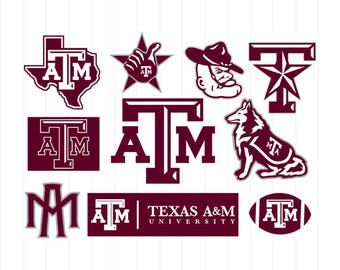 INSTANT DOWNLOAD - Texas A&M University Svg, Texas University Svg File, Texas Cricut File, Texas ATM Svg, Texas Aggies Svg, Aggies Clipart