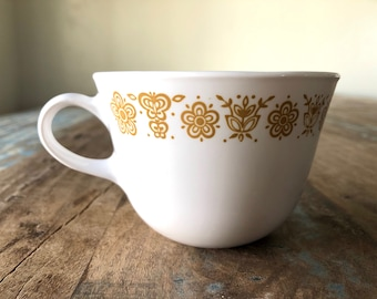 VINTAGE Corelle Butterfly Gold Closed Handle Coffee/Tea Cup