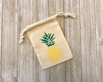 Pineapple-Summer-Cotton Bags-Muslin Bags-Party Favors