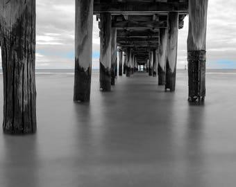 Seaford Pier, Under the pier, Melbourne, Australia, Fine Art Photography, Long exposure, Beach