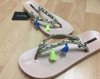 Impanema original flip-flops boho re-designed