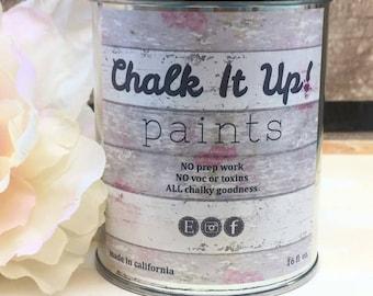 Premium Chalk Finish Paint, Chalk Paint, Furniture Paint, No Prep, Eco Friendly, Quick Dry, Cabinet Paint,Great Coverage, Chalk It Up Paints