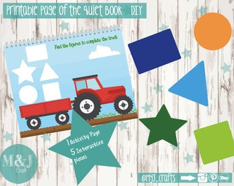 Printable Quiet Book Page - Farm Quiet Book
