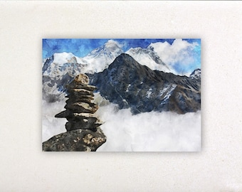 Everest - Watercolor prints, watercolor posters, nursery decor, nursery wall art, wall decor, wall prints | Tropparoba - 100% made in Italy