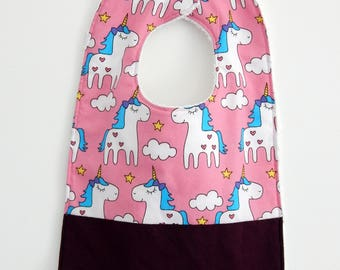 Pink Unicorn bib