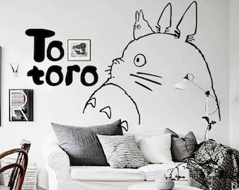 Large Wall Decals My Neighbour Totoro Wall Stickers, Removable Vinyl Wall  Decals, Nursery