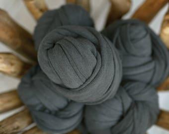 Charcoal Stretch Knit Wrap, Gray Stretch Knit Wrap, Newborn Stretch Knit Wrap, Newborn Fabric Layers, RTS