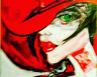 100% handmade,original water color painting, 35×50cm portrait