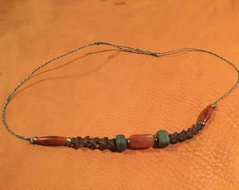 Beads and Snake Vertebrate Necklace