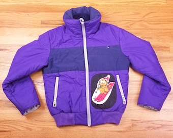 Vintage 80s Garfield Ski Serac Jacket 90s Purple Size Medium