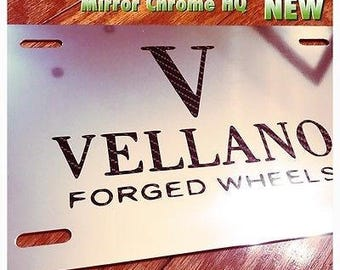 Vellano Forged Wheels Custom License Plate New Carbon Logo Bentley Maserati GMC Chevy BMW Audi Tesla