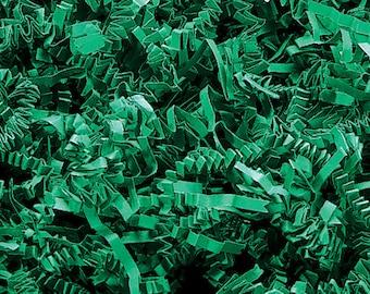 Crinkle Cut Shred,  Green , Gift Basket Shred, Crinkle Paper ,Filler paper, Display Shred & Basket Filler , Cut Paper Shred, Eco Friendly