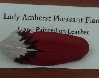 Lady Amherst Pheasant Flank pin