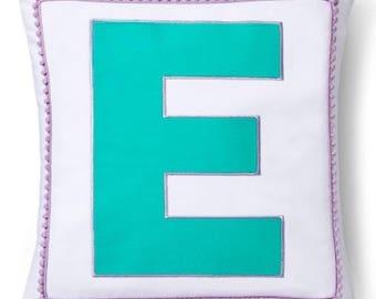 Girls Monogrammed Pillow Sham, E