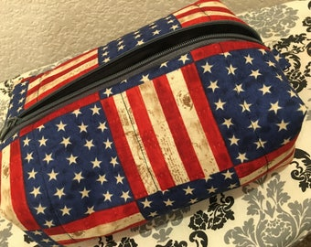 Patriotic Make-Up Bag