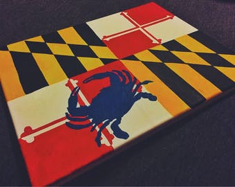 Maryland Flag Canvas