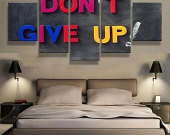 canvas art wall art canvas prints Motivational quote 5 pieces canvas print