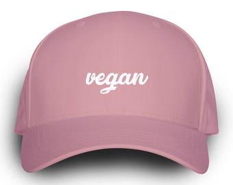 Vegan Dad Hat Pink