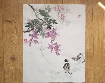 spring wisteria and chicks