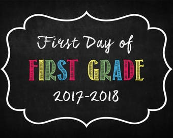 First Day of First Grade, First Day of School, First Grade, First Day of First Grade, First Grade