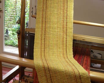Sunshine Yellow Handwoven Table Runner