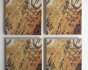 Hidden Treasures tile coasters