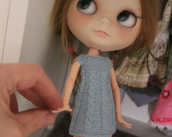 Dress for blythe doll azon XS S knit handnade