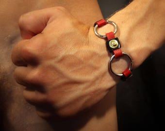 "Bracelet ""Defined-double-black & red"""