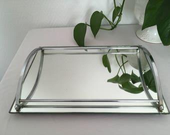 vintage mid century mirror tray