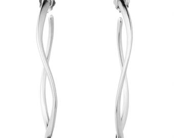 Featherweight Hoops in Sterling Silver