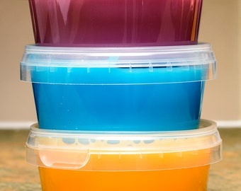 Slime Tutti Fruitti 3 Pack Stress Relieving Creative Play Gift New Brighter Tomorrow Made in UK