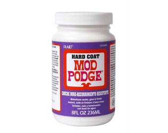 Plaid Mod Podge - Hard Coat Satin 8 Oz. (236ml) - Decopatch Decoupage, glue sealer varnish all in one.