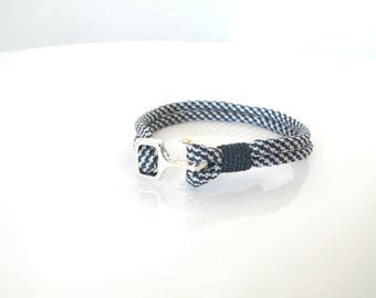 Bracelet - Navy collection Navy Paracord Navy Blue and White with Manila or Navy anchor clasp