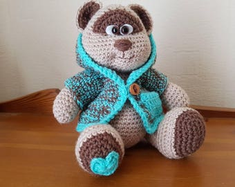 Hand Crocheted Amigurumi Soft Toy Bear